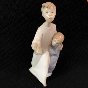 Lladro Boy and Girl with Holding Candle # 4874